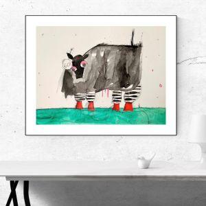 Cow #601 | Original Watercolour Artwork
