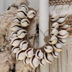 Cowrie Shell Neckpiece | by Raw Decor