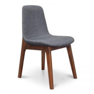 Cozy Dining Chair | Charcoal Cushion | Walnut Legs | Interior Secrets