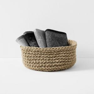 Crochet Basket Extra Large Low | Jute by Aura Home