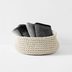 Crochet Basket Extra Large Low | Natural by Aura Home