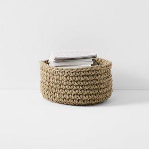 Crochet Basket Large Low | Jute by Aura Home