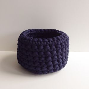 Crochet Basket Medium | Ink