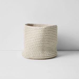 Crochet Basket Medium   Natural by Aura Home