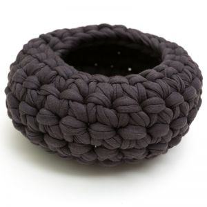 Crochet Bowl Large | Gunmetal