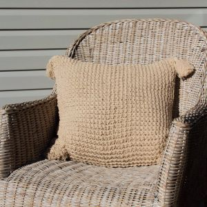 Crochet Cushion   Natural