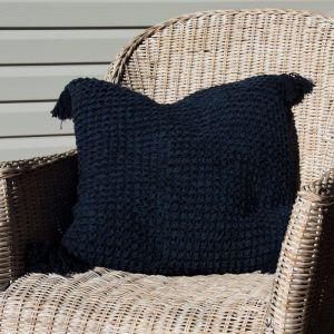 Crochet Cushion   Navy