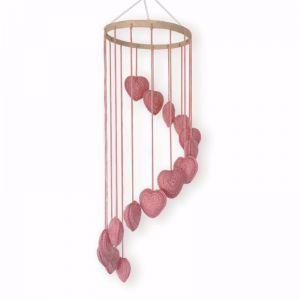 Crochet Heart Mobile | Pink