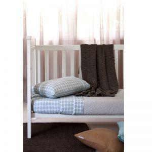 Crochet Knit Blanket | Mocha | Cot