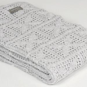 Crochet Knit Blanket | Oyster | Bassinet