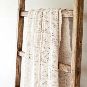 Crochet Knit Blanket | Sand