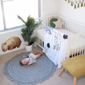 Crochet rug kids bedroom floor rug