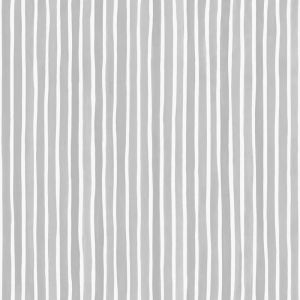 Croquet Stripe Wallpaper - Grey