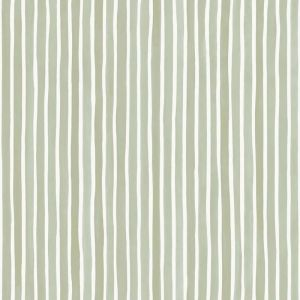 Croquet Stripe Wallpaper - Olive