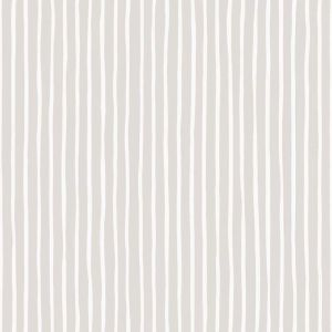 Croquet Stripe Wallpaper - Parchment