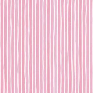 Croquet Stripe Wallpaper - Pink