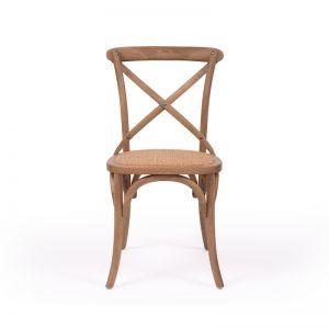 Cross Back Chair | Natural Oak