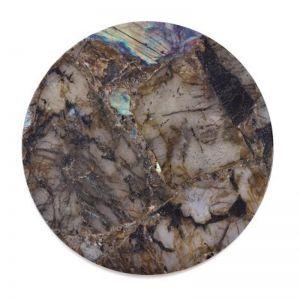Crystal Circle Tray | Labradorite