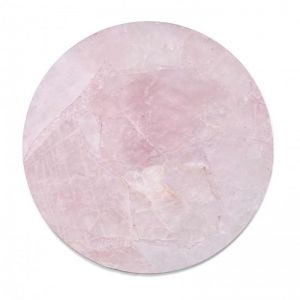 Crystal Circle Tray | Rose Quartz
