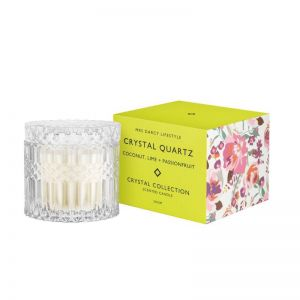Crystal Quartz Candle by Mrs Darcy | Coconut, Lime and Passionfruit
