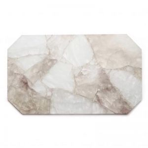 Crystal Rectangle Tray | Clear + Smoky Quartz