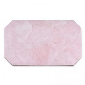 Crystal Rectangle Tray | Rose Quartz