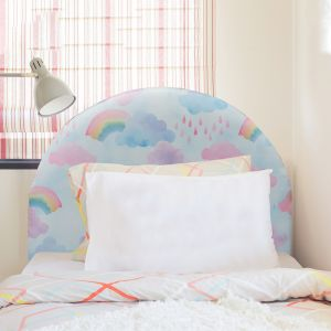Curved Rainbow Upholstered Bedhead | Custom Made by Martini Furniture