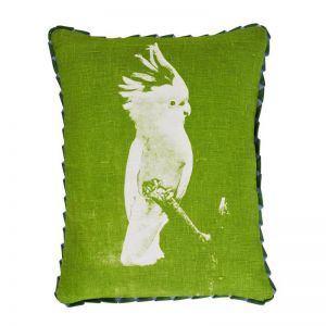 Cushion | Major Mitchell Cocky Green | by Bonnie and Neil