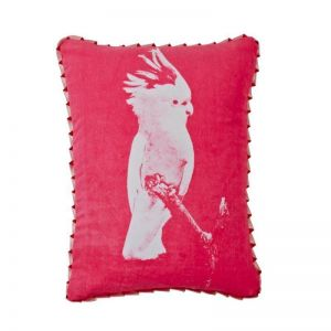 Cushion | Major Mitchell Cocky Pink | by Bonnie and Neil