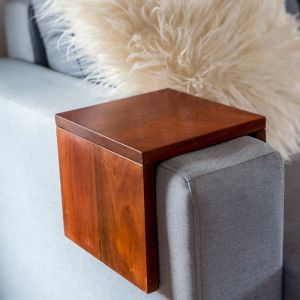 Custom Couch/Sofa Arm Table | Hydrowood Blackwood | by Couchmate