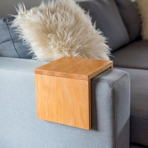 Custom Couch/Sofa Arm Table | Hydrowood Celery Top Pine | by Couchmate