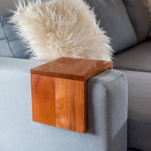 Custom Couch/Sofa Arm Table | Hydrowood Western Beech (Myrtle) | by Couchmate