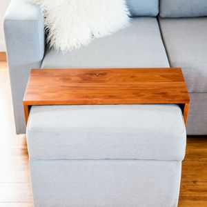 Custom Ottoman/Chaise Table | Hydrowood Blackwood | by Couchmate