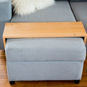 Custom Ottoman/Chaise Table | Hydrowood Celery Top Pine | by Couchmate