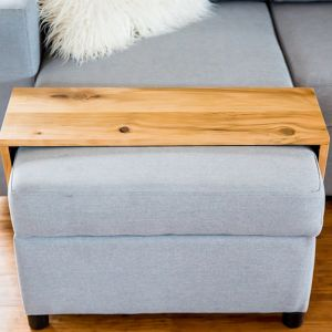 Custom Ottoman/Chaise Table | Hydrowood Golden Sassafras | by Couchmate