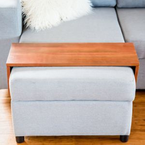 Custom Ottoman/Chaise Table | Hydrowood Western Beech (Myrtle) | by Couchmate