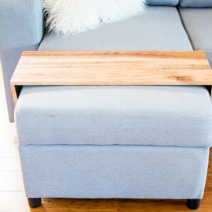 Custom Ottoman/Chaise Table | Upcycled Tasmanian Oak (Natural unstained) | by Couchmate