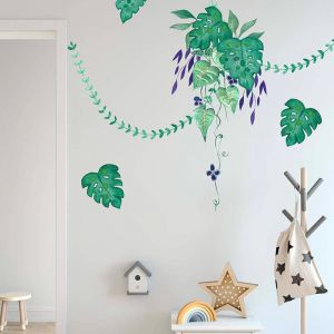Cut-And-Stick Jungalow Greenery Set | Wall Decal