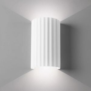 Cylindrical Ribbed Up-Down Wall Light