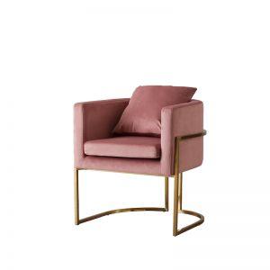 Cynthia Chair | Velvet | Pink