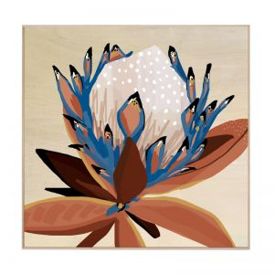 Cyprus Protea | Natural Box Frame | Front View