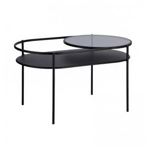 Daheli Black Metal & Glass Coffee Table