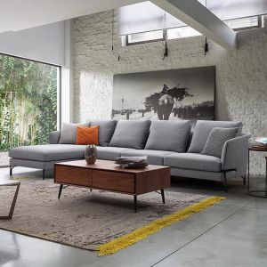 Dakota 3 Seater With Left Chaise | Light Grey