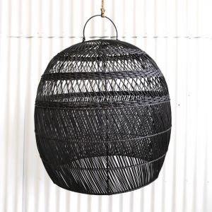 Daliah Rattan Oversized Light Shade Black l Pre Order