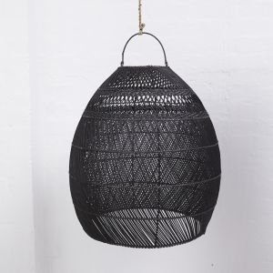 Daliah Rattan Slim Light Shade Black l Pre Order