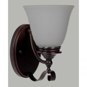 Dallas 1Lt Wall Light | Bronze & Frosted Glass | Schots
