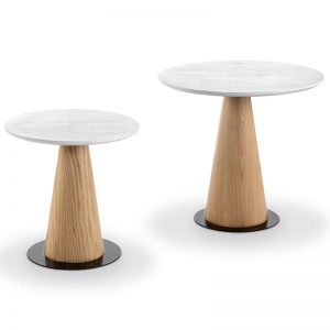Dallin Coffee Table Ash/White | Various Sizes | Modern Furniture
