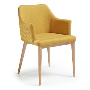 Danai Mustard Quilted Upholstered Chair