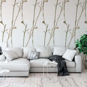 Dancing Gumnuts - Garden Love | Eco Wallpaper | Amba Florette