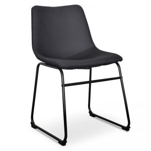 Darcy Fabric Dining Chair   Black   Set of 2